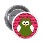 I love Owls Pin back button
