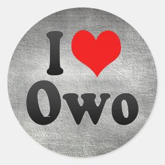 I Love Owo, Nigeria Classic Round Sticker