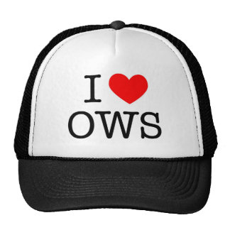 I Love OWS -  100% donation OWS Cap