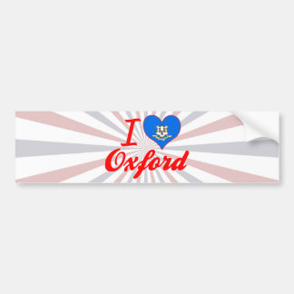 I Love Oxford, Connecticut Bumper Stickers