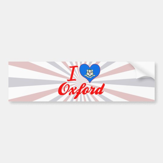I Love Oxford, Connecticut Bumper Sticker