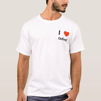 I love Oxford logo T shirt