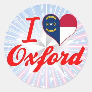 I Love Oxford, North Carolina Round Stickers