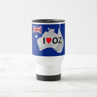 I Love Oz Logo Travel Mug