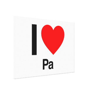 i love pa gallery wrap canvas