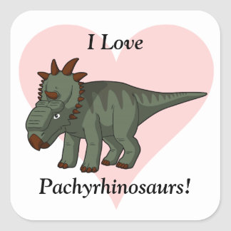 I Love Pachyrhinosaurs! Sticker