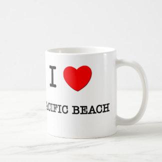 I Love Pacific Beach California Basic White Mug