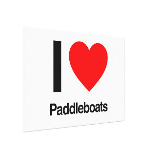 i love paddleboats gallery wrap canvas