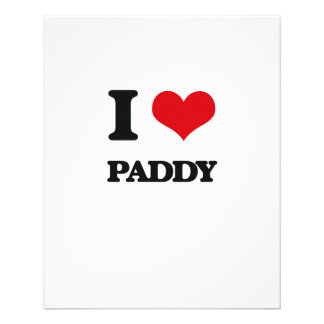 I Love Paddy Custom Flyer