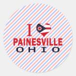 I love Painesville, Ohio Round Stickers