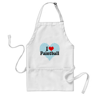 I Love Paintball Aprons