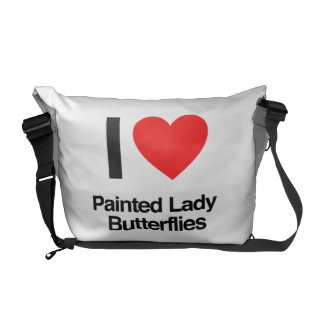 i love painted lady butterflies commuter bags
