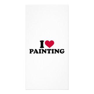 I love painting photo card