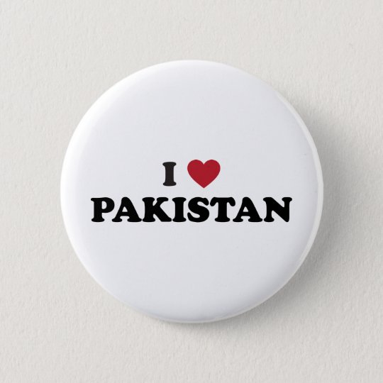 I Love Pakistan 6 Cm Round Badge