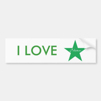 I Love Pakistan Bumper Sticker