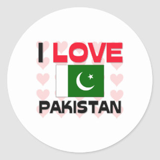 I Love Pakistan Classic Round Sticker