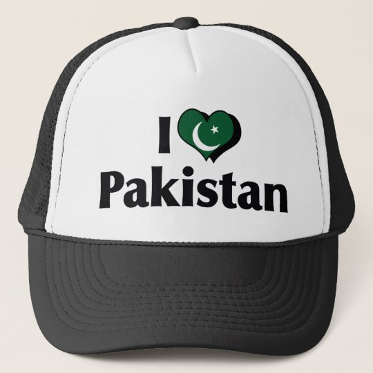 I Love Pakistan Flag Cap