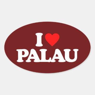 I LOVE PALAU OVAL STICKER