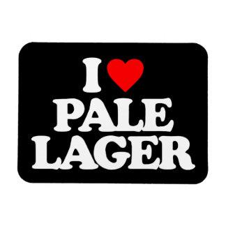 I LOVE PALE LAGER RECTANGULAR MAGNET