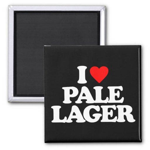 I LOVE PALE LAGER FRIDGE MAGNETS