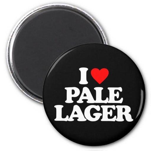 I LOVE PALE LAGER REFRIGERATOR MAGNET