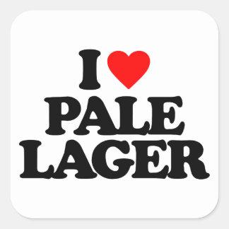 I LOVE PALE LAGER SQUARE STICKER
