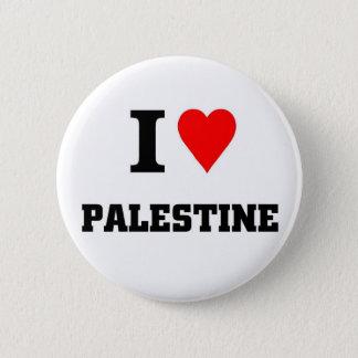 I love Palestine 6 Cm Round Badge