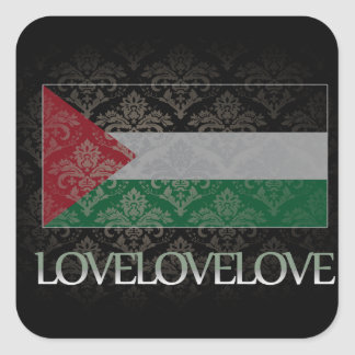 I love Palestine Cool Square Sticker