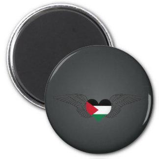 I Love Palestine -wings 6 Cm Round Magnet