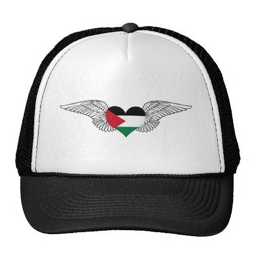 I Love Palestine -wings Mesh Hat