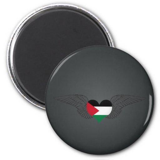 I Love Palestine -wings Refrigerator Magnet