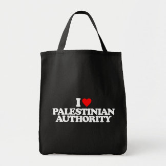 I LOVE PALESTINIAN AUTHORITY TOTE BAGS