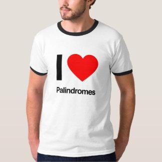 i love palindromes tees