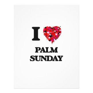 I Love Palm Sunday 21.5 Cm X 28 Cm Flyer