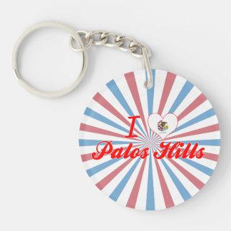 I Love Palos Hills Illinois Keychains