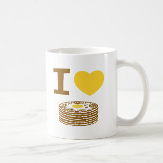 I Love Pancakes Coffee Mug