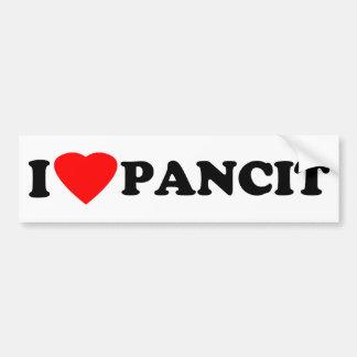 I Love Pancit Bumper Sticker
