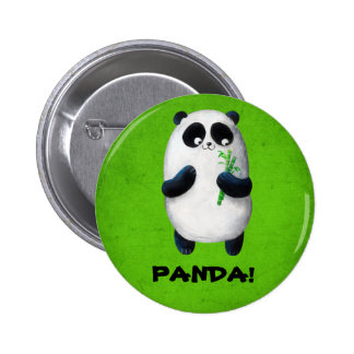 I love Panda 6 Cm Round Badge