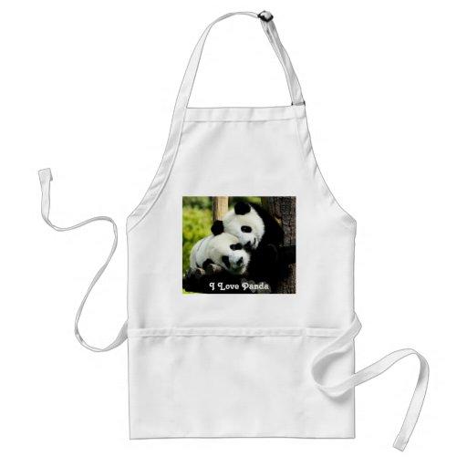 I  Love Panda Apron