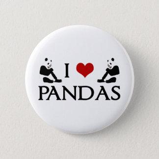 I Love Panda Bears Cute 6 Cm Round Badge