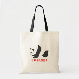 I Love Panda (Black) Tote Bag