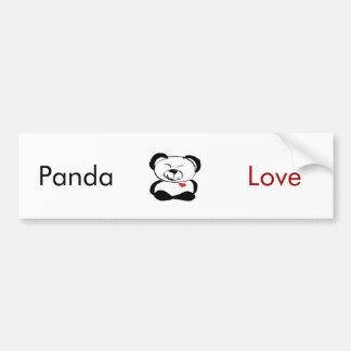 I love Panda bumper sticker! Bumper Sticker