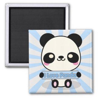I Love Panda Refrigerator Magnet
