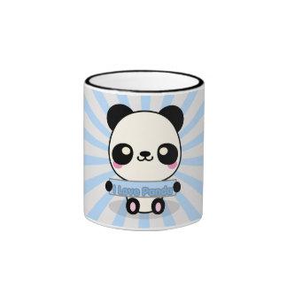 I Love Panda Ringer Mug