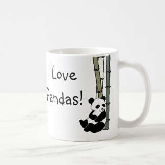 I Love Pandas Basic White Mug
