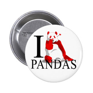 I Love Pandas Buttons