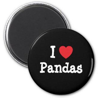 I love Pandas heart custom personalized Fridge Magnet
