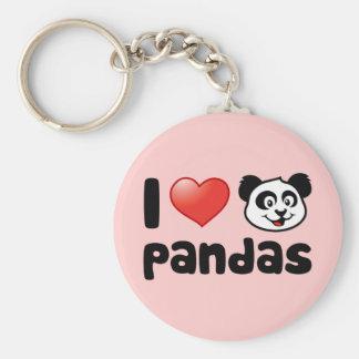 I Love Pandas Keychain
