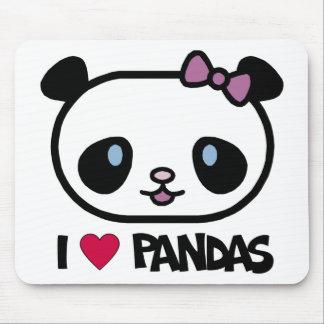 I Love Pandas Mouse Mat
