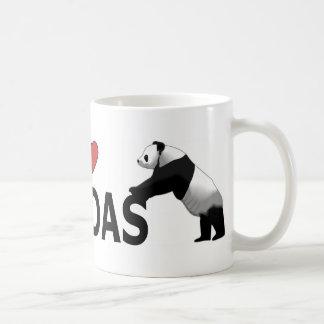 I Love Pandas Coffee Mugs